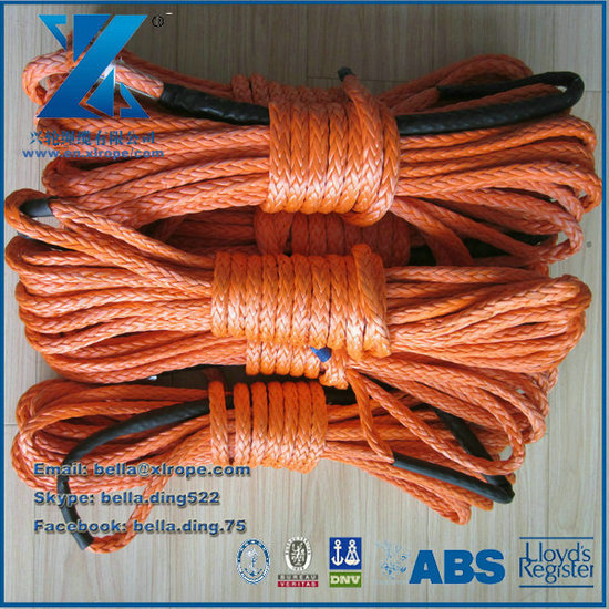 12mm Orange Atv Synthetic Winch Rope Line Plasma