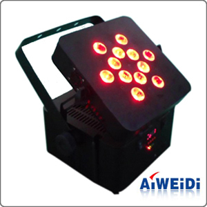 12pcs 3w 3 In 1 Battery Powered Wireless Led Par Light