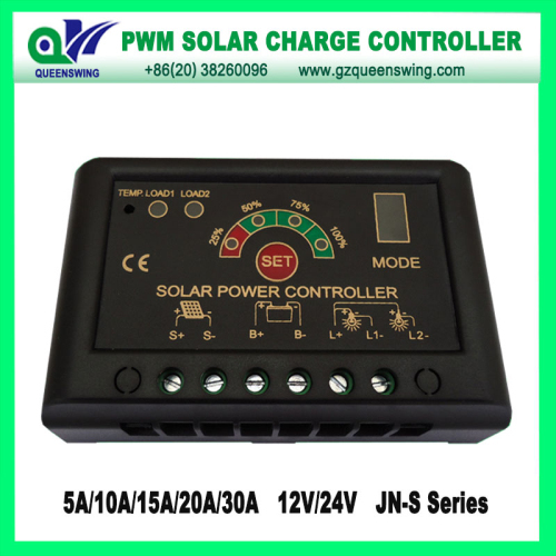 12v 24v 30a Pwm Solar Charge Controller With Led Digital Display