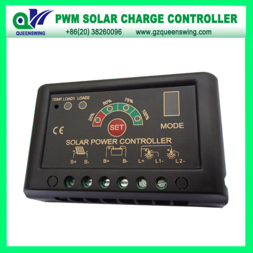12v 24v 5a Pwm Solar Charge Controller With Led Digital Display
