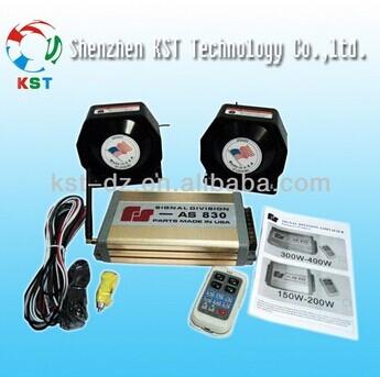 12v Car Warning Alarm Siren Horn With 200w Speaker