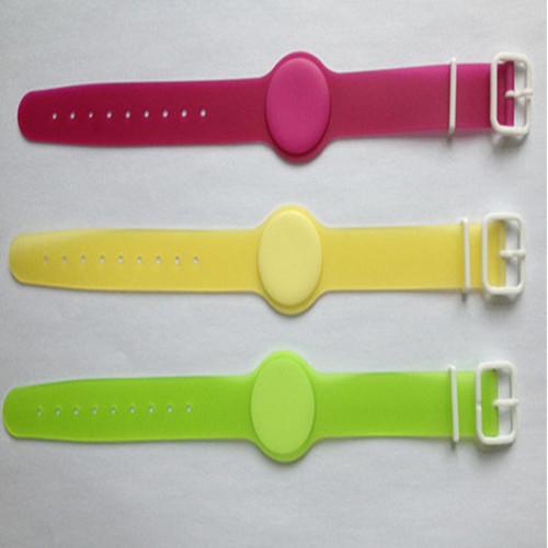 13 56mhz Silicone Rfid Wristband Watch
