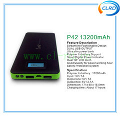 13200mah Power Bank Charger Mobile Case With Led For Samsung Galaxy S4