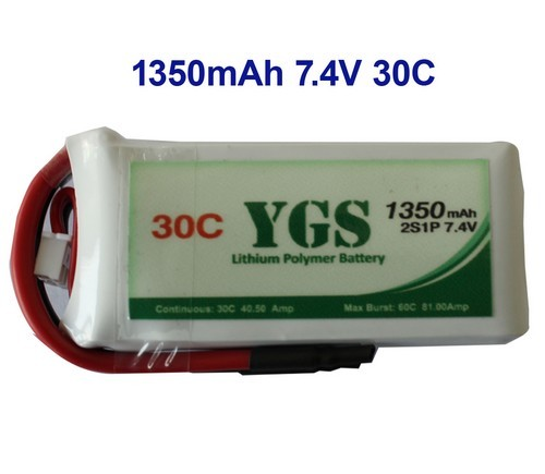 1350mah 2s 30c Rc Lipo For Helicopter