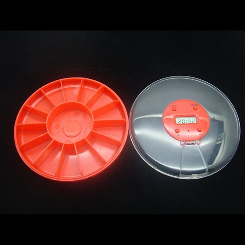 14 Compartments Round Pill Box With Alarm Timer