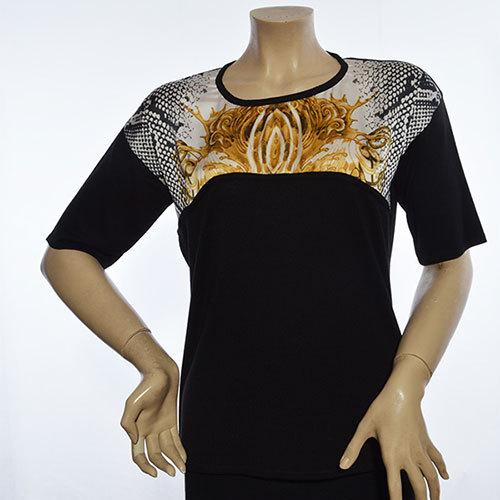 1401 Printing Pattern Sweater Blouse