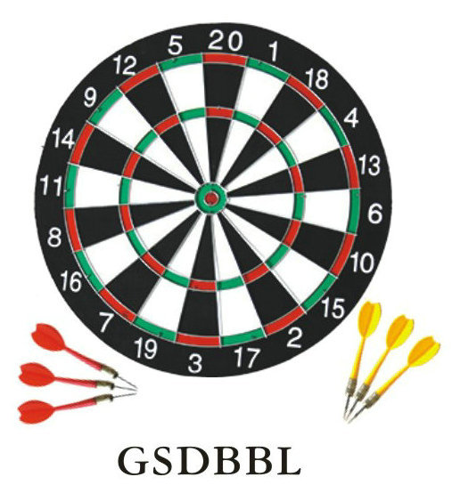 15 17 Kids Dartboard Surround With 6pcs Darts