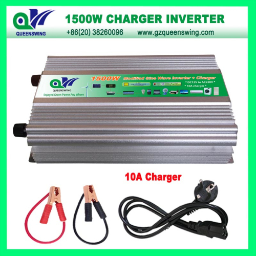 1500w Modified Sine Wave Power Inverter With 10a Charger