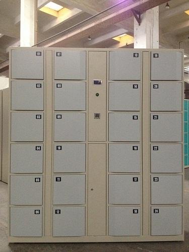 18 Door Fingerprint Operated Lockers Cabinet