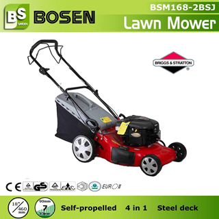 18 New Steel Deck Gasoline Lawn Mower 4 In 1