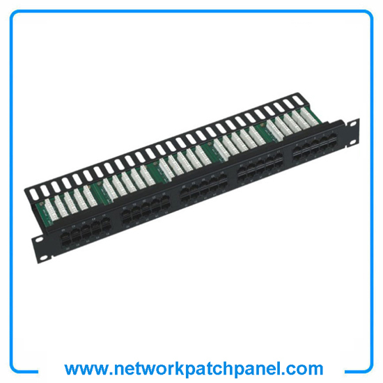 19 Inch 50 Ports Cat3 Rj11 Telephone Patch Panel