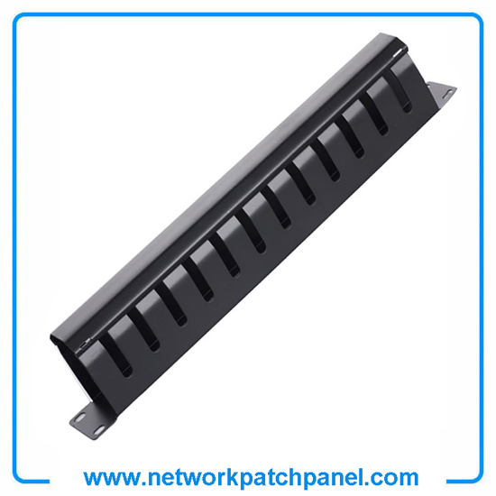 1u 12 Channel Abs Plastic Patch Panel Cable Mangement Wire Managment