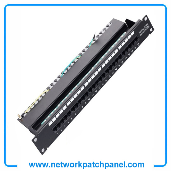 1u 19 Inch Cat3 Rj11 Voice And Data Patch Panel 25 Port