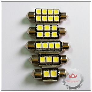 2 3 4 6 8smd Festoon Led Auto Bulb With Canbus And Heat Sink