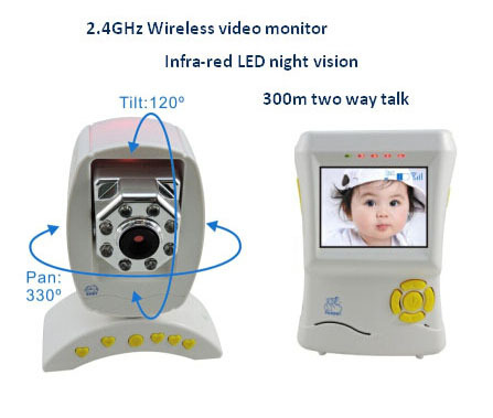 2 4g Wireless Digital Video Baby Monitor With Temperature Detector Night Vi