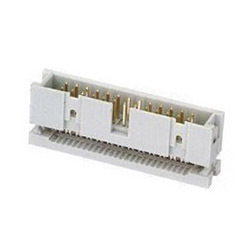 2 54mm Pitch Idc Style Box Header Connector With Gold Plated Brass Contacts