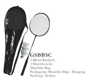 2 Player Steel Racket Badminton Set