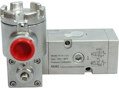 2 Way Stainless Steel 316 Explosion Proof Solenoid Valve Of Pneumatic Actua