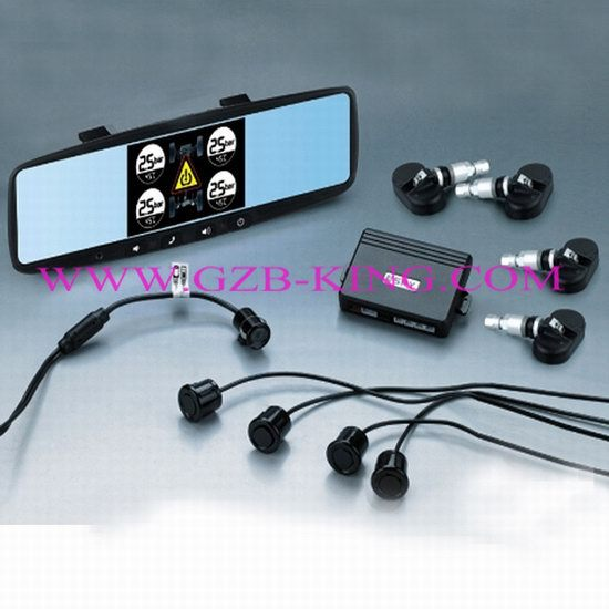 2012 Newest 4 In 1 Parking System Rearview Tpms Sensor Bluetooth