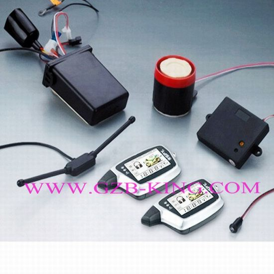 2012 Newest Fm Two Way Lcd Motorcycle Alarm System