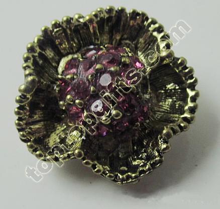 2013 Fashion Flower Rhinestone Button