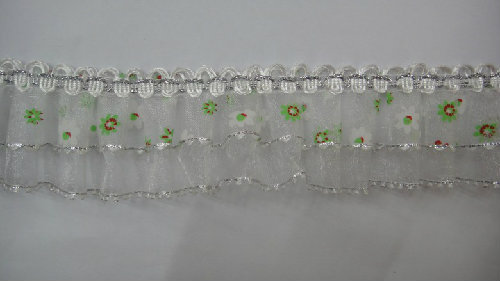 2013 Innervation And Translucence Design Within Circle Sequins Organza Lace