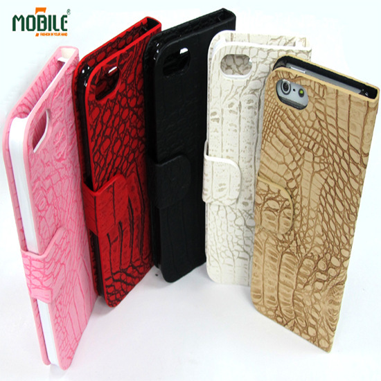 2013 Mobile7 New Item Lichee Pattern Skin Design Leather Case Pc Base For I