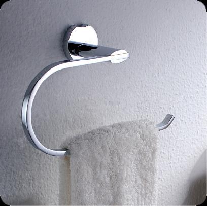 2013 New Design Chromed Brass Towel Ring