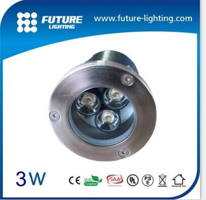 2014 3w High Power Ip67 Waterproof Outdoor Led Recessed Inground Lamp