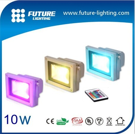 2014 Hot Sales Ip65 10w Rgb Outdoor Led Flood Light Color Changing With Tuv