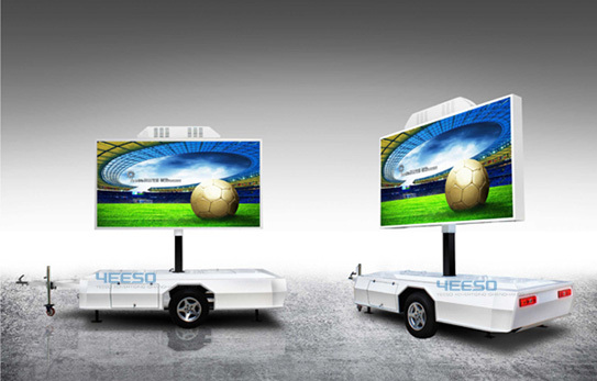 2014 Hot Yes T5 Outdoor Led Advertising Trailer For Movie Nights Stage Back