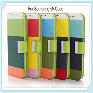 2014 New Arrival Leather Case For Samsung S5