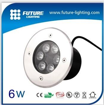 2014 Outdoor Decorative Ip67 Ac Dc12v 6w Square Led Inground Lamp