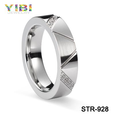 2016 Cz Inlaid Latest Design Stainless Steel Ring