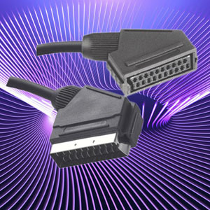 21pin Scart Cable With Connector Male To Female