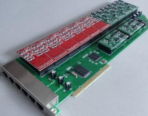 24 Port Asterisk Analog Telephony Pci Card Fxo Fxs