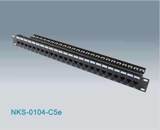 24 Port Rj45 Cat5e Utp Modular Patch Panel Nks 0104 C5e