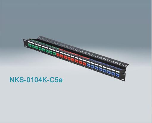 24 Port Rj45 Cat5e Utp Patch Panel Nks 0104k C5e
