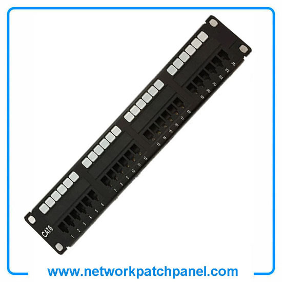 24 Port Stp Shielded Cat6 Network Patch Panel