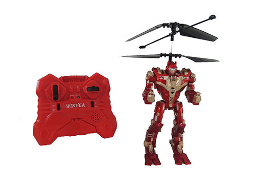2ch R C Battle Flying Robot With Gyro Light Sound