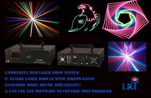 2w Analog Rgb With 40kpps Multi Colors Animation Stage Performance Effect L