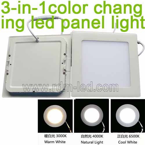 3 In 1 Color Changing Square Led Panel Light