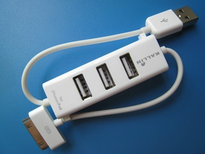 3 Ports Usb 2 0 Hub With Lighning Connector For Iphone