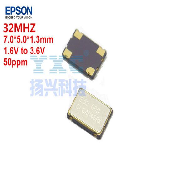32mhz Sg7050can Epson 50ppm 4p 3 3v 1 6v To Quartz Crystal Oscilliator