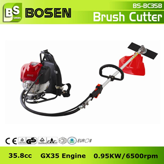 35 8cc 4 Stroke Backpack Gasoline Brush Cutter With Gx35 Engine