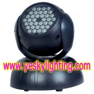36 3w Rgb Led Moving Head Wash Yk 102
