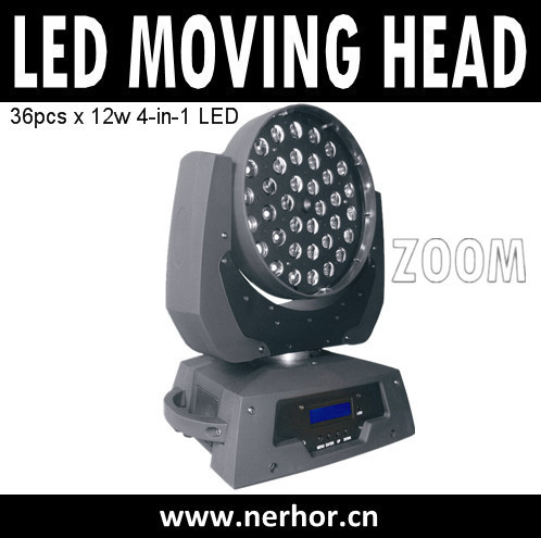 36pcs Rgbw 4in1 Led Zoom Moving Head Dj Stage Dmx 512 Light