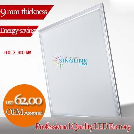 36w 600x600x9mm Ultra Bright Led Panel Light Good Quality