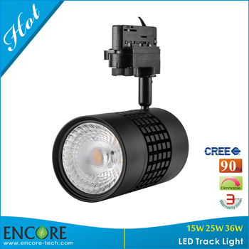 36w Led Tracking Spot Light Dimmable Cree Cob 95ra