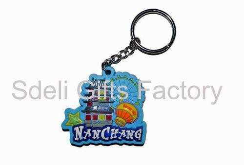 3d Carton Rubber Keychain On Oem